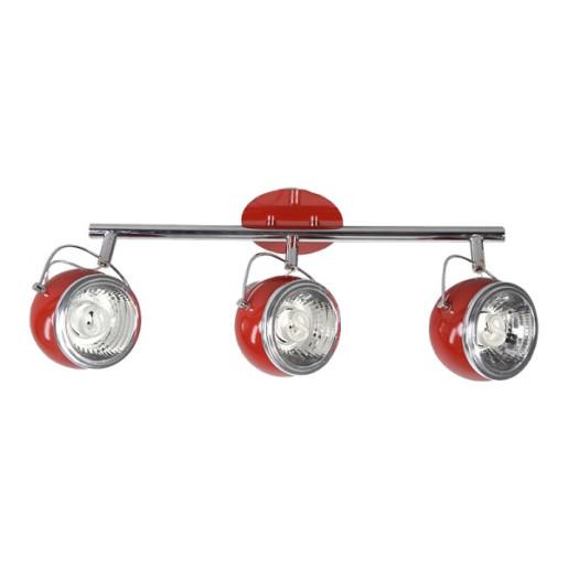 Listwa 3-płomienna Ball czerwona, Spot Light, 2686312