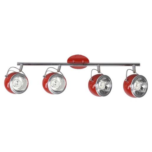 Listwa 4-płomienna Ball czerwona, Spot Light, 2686412