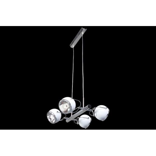 Lampa wisząca 4-płomienna Ball biała, Spot Light, 5009412