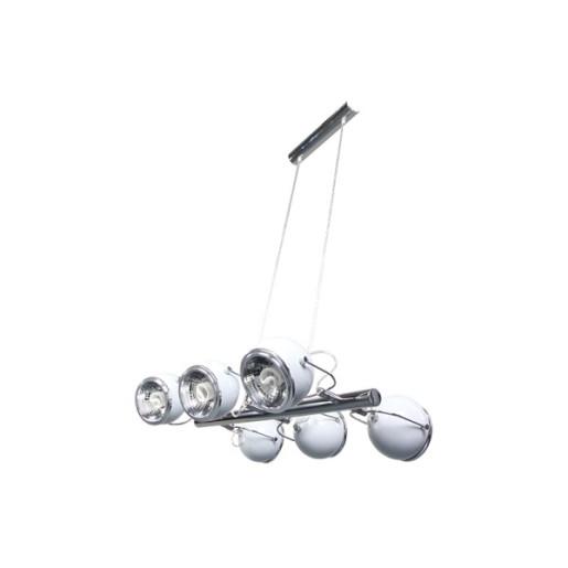 Lampa wisząca 6-płomienna Ball biała, Spot Light, 5009612