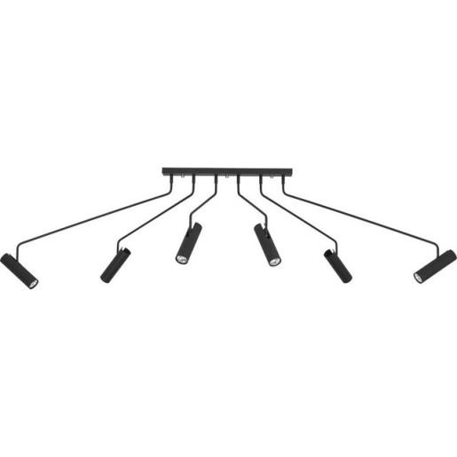 Plafon EYE SUPER BLACK sześcioramienny 6505 Nowodvorski