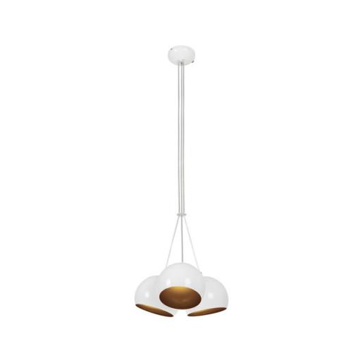Lampa wisząca BALL WHITE-GOLD trójpunktowa 6603 Nowodvorski