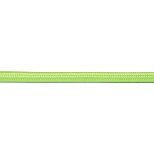 Kabel w oplocie okrągły jaskrawa zieleń 3x0,75