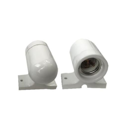 Kinkiet Oprawka porcelanowa biała E 27 z podstawką