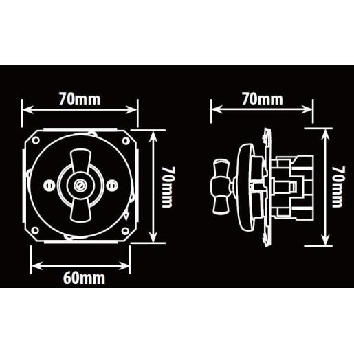 Podtynkowy włącznik świecznikowy światła retro ANTICA czarny, TT-01B czarny