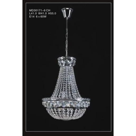 Lampa wisząca kryształowa ESTHER MD30171/6 CH Italux