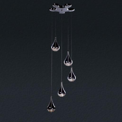 Lampa wisząca pięciopłomienna Perle, Zuma Line, P0226-05B