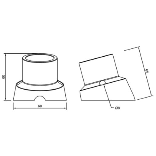 Kinkiet Oprawka porcelanowa CZARNA E27 z wyłącznikiem