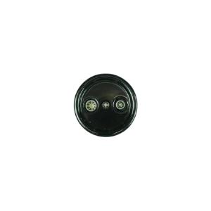 Antica ceramiczne natynkowe gniazdo TV+R czarne,T06/TV+R czarny