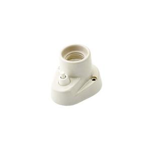 Kinkiet Oprawka porcelanowa BIAŁA E27 z wyłącznikiem