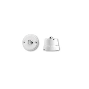 Porcelanowy włącznik natynkowy dzwonkowy chrom , GiGambarelli, 00134
