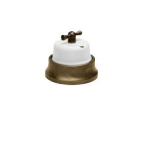 Porcelanowy włącznik natynkowy pulsacyjny FUSION GiGambarelli, 31.120.14