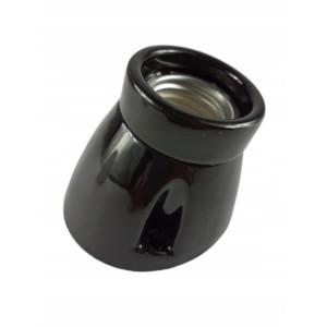 Kinkiet Oprawka ceramiczna CZARNA E27 KINKIET skos
