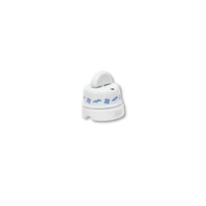 Porcelanowy włącznik natynkowy obrotowy pojedynczy/podwójny old england, biały, GiGambarelli, EN00110