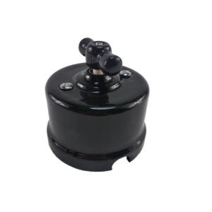 Włącznik światła retro pojedynczy ANTICA CZARNA, single black T-01A czarny