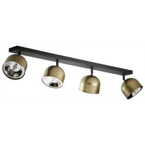 ALTEA BLACK/GOLD LAMPA SUFITOWA 4 PŁ  3427