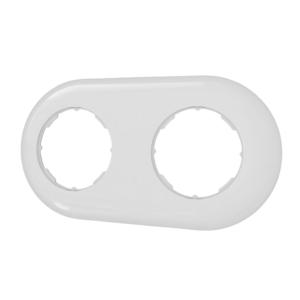 Ramka podwójna prosta  biała LOFTICA  H1-RB002