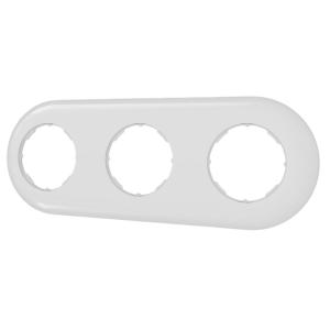 Ramka potrójna prosta biała LOFTICA  H1-RB003