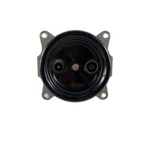 Czarne gniazdo podtynkowe ANTICA TV+R ceramika, TT-06/TV+R czarny