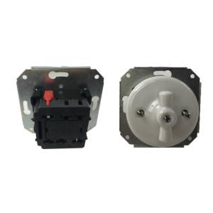 Podtynkowy włącznik światła retro ANTICA BIAŁA TT-01A biały