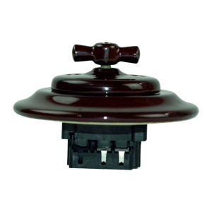Podtynkowy włącznik światła retro ANTICA CZARNY, TT-01A czarny