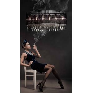 Lampa wisząca SIDNEY BLACK OWALNA AZzardo