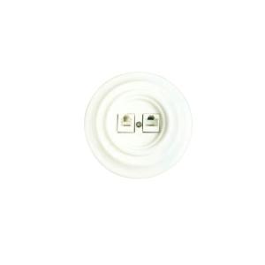 Gniazdo podtynkowe ANTICA RJ 45 + RJ 11 Ceramiczne