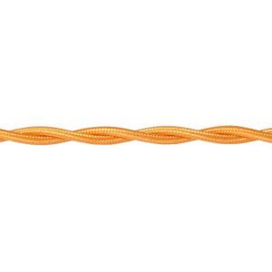 Kabel w oplocie skręcanym złoty 2x0,5mm