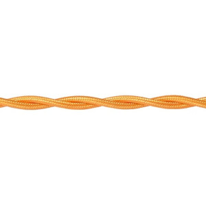 Kabel w oplocie skręcanym złoty 3x0,75