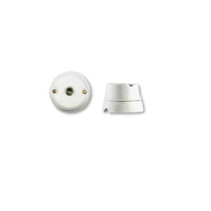 Porcelanowe gniazdo natynkowe antenowe, TV żeńskie, GiGambarelli, 00240