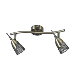 Lampa sufitowa 2pł plafon MILVA patyna 2402211 Spot Light