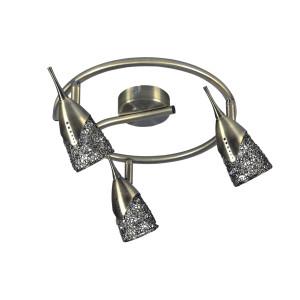 Lampa sufitowa 3pł plafon MILVA patyna 2402331 Spot Light