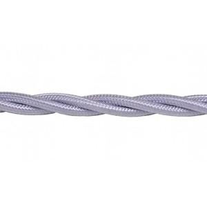 Kabel w oplocie skręcanym szary 2x0,5mm