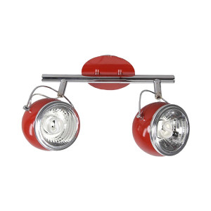 Listwa 2-płomienna Ball czerwona, Spot Light, 2686212