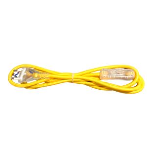Kabel przyłączeniowy w oplocieokrągły zielony z wyłącznikiem