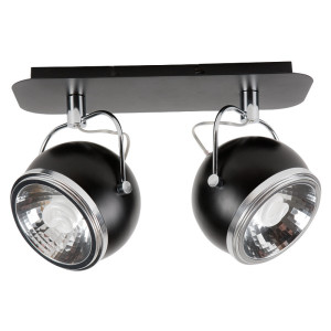 Lampa sufitowa 2-płomienna Ball czarna, Spot Light, 5009204