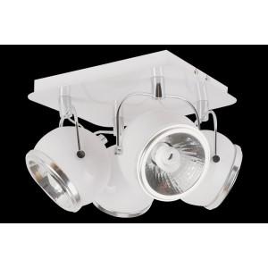 Lampa sufitowa 4-płomienna Ball biała, Spot Light, 5009402