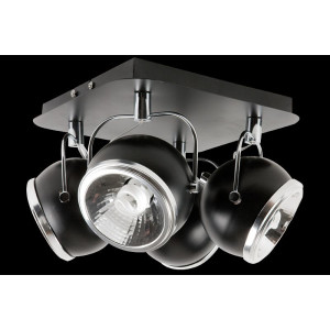Lampa sufitowa 4-płomienna Ball czarna, Spot Light, 5009404