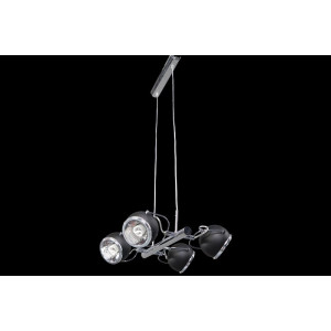 Lampa wisząca 4-płomienna Ball czarna, Spot Light, 5009414