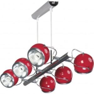 Lampa wisząca 6-płomienna Ball czerwona, Spot Light, 5009606