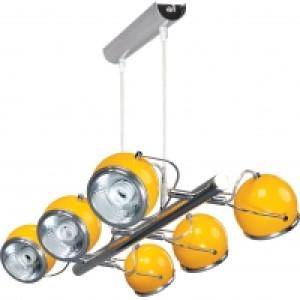 Lampa wisząca 6-płomienna Ball żółta, Spot Light, 5009609