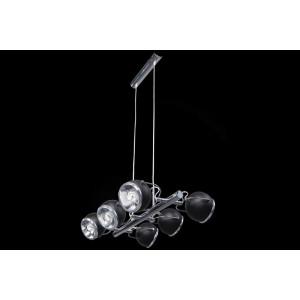 Lampa wisząca 6-płomienna Ball czarna, Spot Light, 5009614