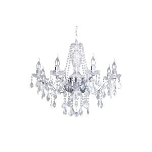 Lampa wisząca żyrandol srebny 8pł ODESSA 5090818 Spot Light