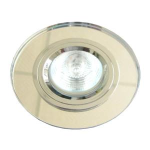 SS-15 CH/WH MR16 CHROM oczko sufitowe lampa sufitowa STAŁA OKRĄGŁA SZKŁO BEZBARWNE
