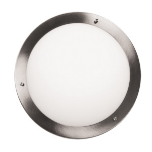 AQUILA LAMPA SUFITOWA PLAFON 40 2X60W E27 SATYNA NIKIEL IP44