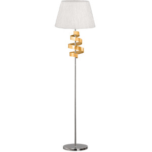 DENIS LAMPA PODŁOGOWA 1X60W E27 CHROM/ZŁOTY