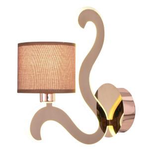 AMBROSIA 3 LAMPA KINKIET 1X40W E14 + 6W LED MIEDZIANY