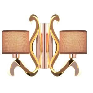 AMBROSIA 3 LAMPA KINKIET 2X40W E14 + 12,3W LED MIEDZIANY