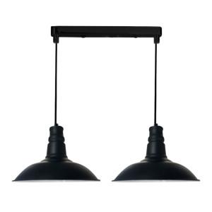 CONSUELA LAMPA WISZĄCA 2X60W E27 CZARNY
