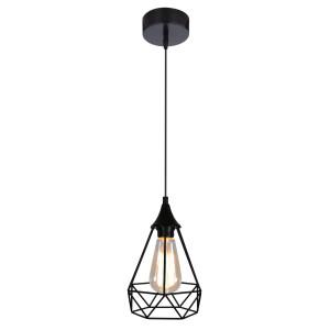 GRAF LAMPA WISZĄCA 1X60W E27 CZARNY